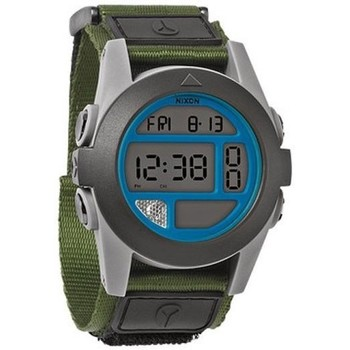 Montres & Bijoux Montres Digitales Nixon Montre Baja - Surplus Grey / Blue blanc