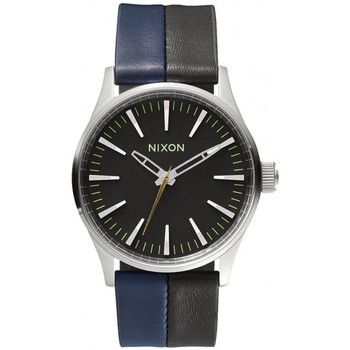 Montres Nixon Montres  Sentry 38 Leather - Black / Navy / Black Noir 350x350