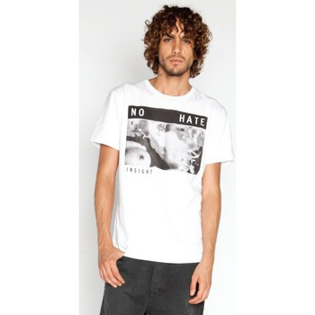 Vêtements Homme T-shirts manches courtes Insight T-shirt Insigh No Hate Tee - Dusted blanc