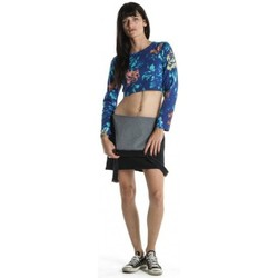 Vêtements Femme T-shirts manches longues Insight Top  Floral Long Sleeve Crop - Blue Floral Bleu