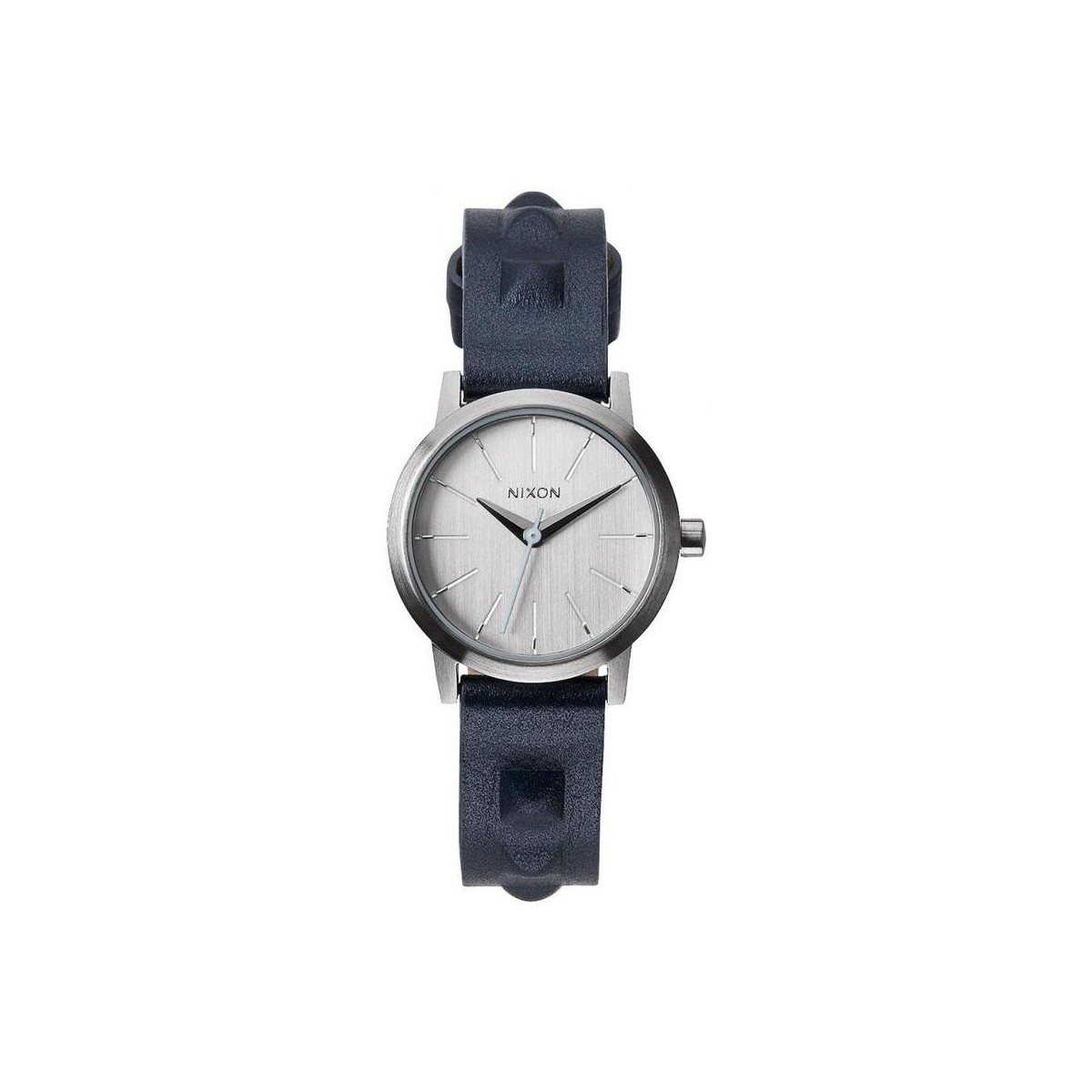 Nixon Montre  Kenzi Leather - All Silver / Studded Gris