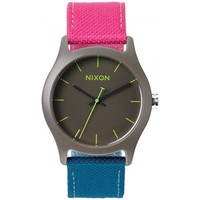 Montres Analogiques Nixon Montres Mod Acetate - Charcoal / Pink / Teal