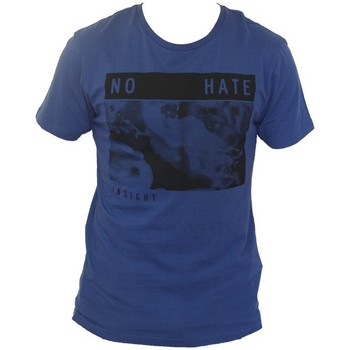 Vêtements Homme T-shirts manches courtes Insight T-shirt Insigh No Hate Tee - Blue Bleu