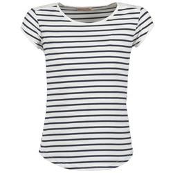 Vêtements Femme T-shirts manches courtes Moony Mood EIYA Blanc / Bleu