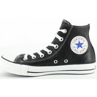 Chaussures Homme Baskets montantes Converse All Star Leather Hi - Ref. 132170C Noir
