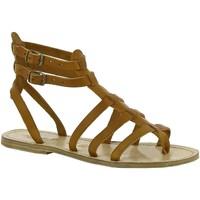 Chaussures Femme Sandales et Nu-pieds Gianluca - L'artigiano Del Cuoio 506 D CUOIO LGT-CUOIO Cuoio
