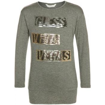 Vêtements Fille T-shirts manches longues Guess T-shirt fille à manches longues  J54I32 slate grey Gris