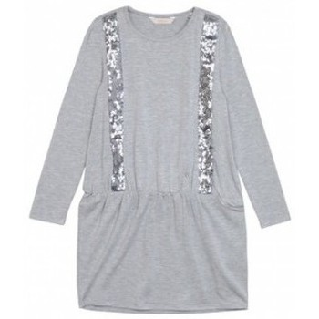 Vêtements Fille Robes courtes Guess Robe fille  à Sequins Grise Gris