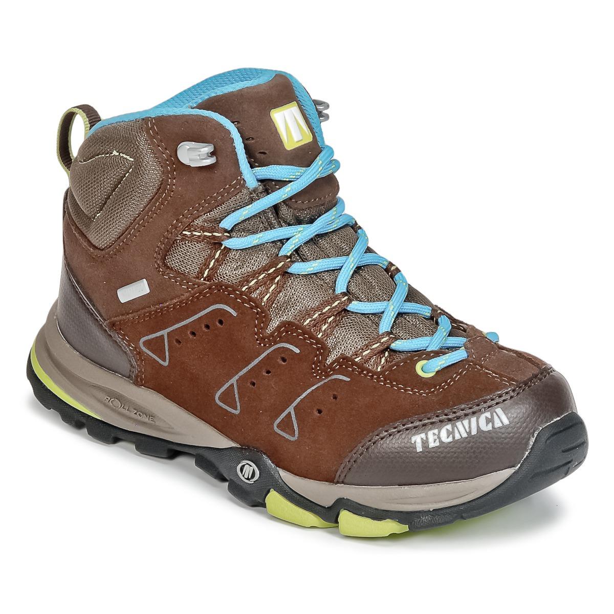 Chaussures-de-randonnee Tecnica CYCLONE III MID TCY JUNIOR Marron / Bleu