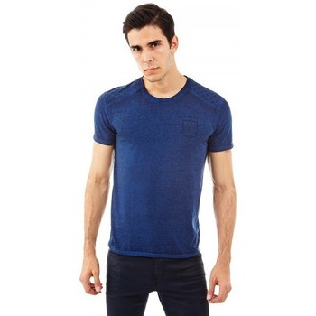 Vêtements Homme T-shirts manches courtes Guess T-shirt  L4A Bleu Bleu