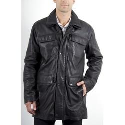 Vêtements Homme Vestes en cuir / synthétiques Mac Douglas Eras Agneau Noir Noir