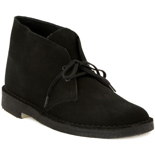 Chaussures Homme Boots Clarks DESERT BOOT BLACK Nero