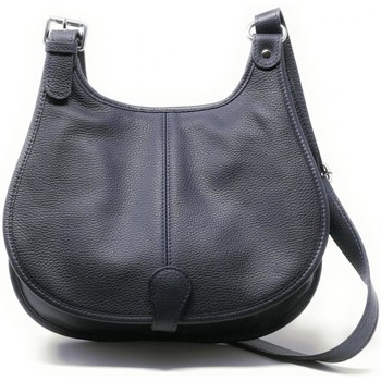 Sacs Femme Sacs porté épaule Oh My Bag Sac à Main CUIR femme - Modèle PETRA (gd modèle) bleu foncé BLEU FONCE