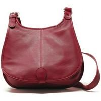 Sacs Femme Sacs porté épaule Oh My Bag Sac à Main CUIR femme - Modèle PETRA (gd modèle) rouge foncé ROUGE FONCE