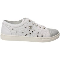 Chaussures Fille Baskets basses Blumarine D1443 Sneakers Fille Cuir  Blanc Blanc