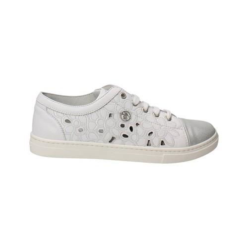 Chaussures Fille Baskets basses Blumarine Blumarine  D1443 Petite Sneakers Fille Blanc Blanc