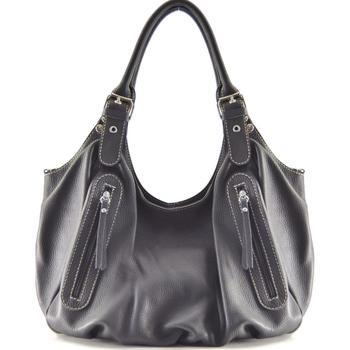 Sacs Femme Sacs porté épaule Oh My Bag Sac à Main CUIR femme - Modèle St trop' gris foncé GRIS FONCE