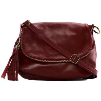 Sacs Femme Sacs porté épaule Oh My Bag Sac à Main cuir souple - Modèle 72 heures (petit) rouge foncé ROUGE FONCE