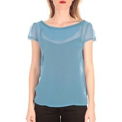 Vêtements Femme T-shirts manches courtes Aggabarti t-shirt voile121072 bleu Bleu