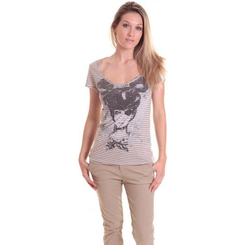 Vêtements Femme T-shirts manches courtes Rich & Royal T-shirt 11q442 Beige/Taupe Beige