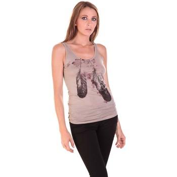 Vêtements Femme Débardeurs / T-shirts sans manche Rich & Royal Débardeur 11q413 Taupe Marron
