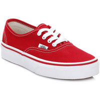 Baskets basses Vans Kids Red/True White Authentic Canvas Trainers