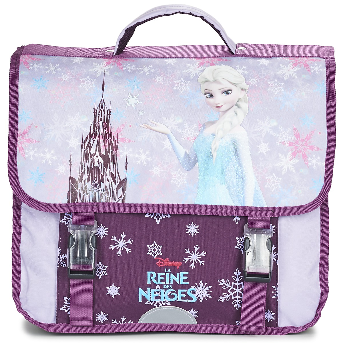 Disney REINE DES NEIGES CARTABLE 38CM Mauve