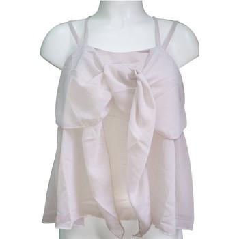 Vêtements Femme Débardeurs / T-shirts sans manche Aggabarti Top 121068 Écru Beige
