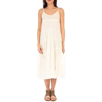 Vêtements Femme Robes longues Vision De Reve Vision de Rêve Robe 7097 Écru Beige