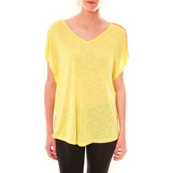 Vêtements Femme T-shirts manches courtes Dress Code Top M-9388  Jaune Jaune