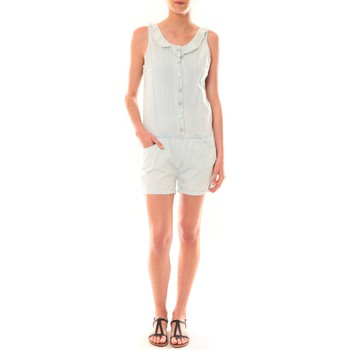 Vêtements Femme Combinaisons / Salopettes Dress Code Combinaison F258  Denim Clair Bleu