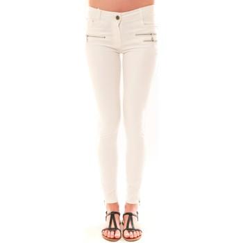 Pantalons 5 poches Carla Conti Pantalon S2012  Blanc