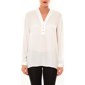 Vêtements Femme Tops / Blouses Carla Conti Blouse M3060 blanc Blanc