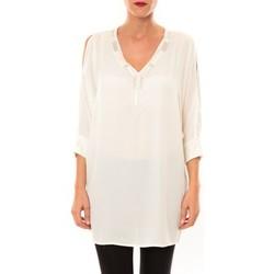 Vêtements Femme Tuniques Carla Conti Tunique LW15002 écru Beige