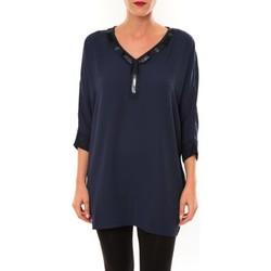 Vêtements Femme Tuniques Carla Conti Tunique LW15002 marine Bleu