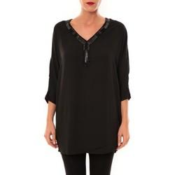 Vêtements Femme Tuniques Carla Conti Tunique LW15002 noir Noir