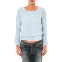 Vêtements Femme T-shirts manches longues By La Vitrine Top Z014 bleu Bleu