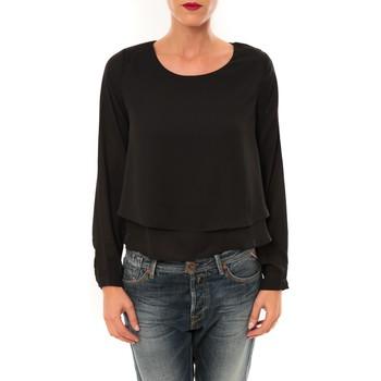 Vêtements Femme T-shirts manches longues By La Vitrine Top Z014 noir Noir