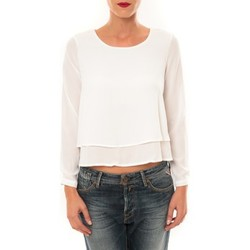 T-shirts manches longues By La Vitrine Top Z014 blanc