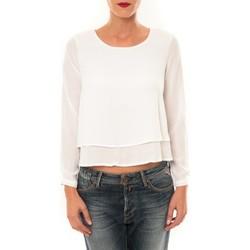 Vêtements Femme T-shirts manches longues By La Vitrine Top Z014 blanc Blanc
