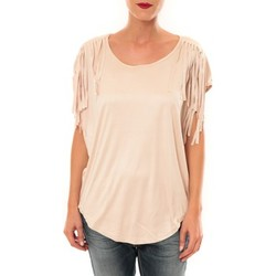 T-shirts manches courtes Nina Rocca Top C1844 beige