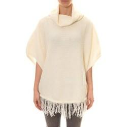 Vêtements Femme Gilets / Cardigans Carla Conti Poncho Blanc Blanc