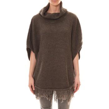Vêtements Femme Gilets / Cardigans Carla Conti Poncho Marron Marron