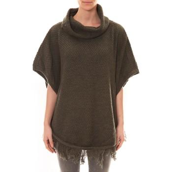 Vêtements Femme Pulls Carla Conti Poncho Kaki Vert