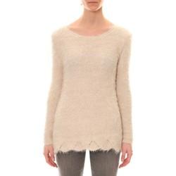 Vêtements Femme Pulls De Fil En Aiguille Pull Effet Noix Coco Ecru Blanc