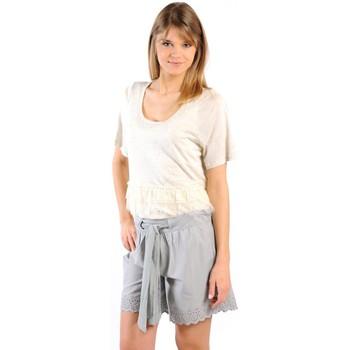Vêtements Femme T-shirts manches courtes Gat Rimon TOP LYLY ECRU Beige