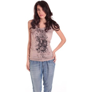 Débardeurs / T-shirts sans manche Rich & Royal DEBARDEUR CRASH TAUPE