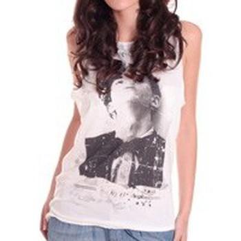 Débardeurs / T-shirts sans manche Rich & Royal DEBARDEUR NO17 BLANC
