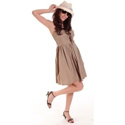 Robes courtes Aggabarti ROBE NOEUD 111029 BEIGE