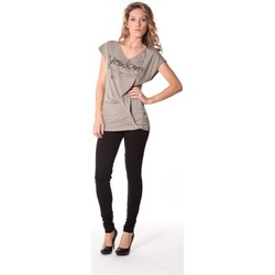 Vêtements Femme T-shirts manches courtes Rich & Royal Tee-shirt Yes 13q424 Gris Gris